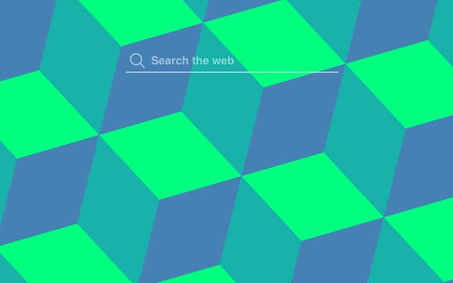 Blue Green Cubes HD Wallpaper Tab Theme