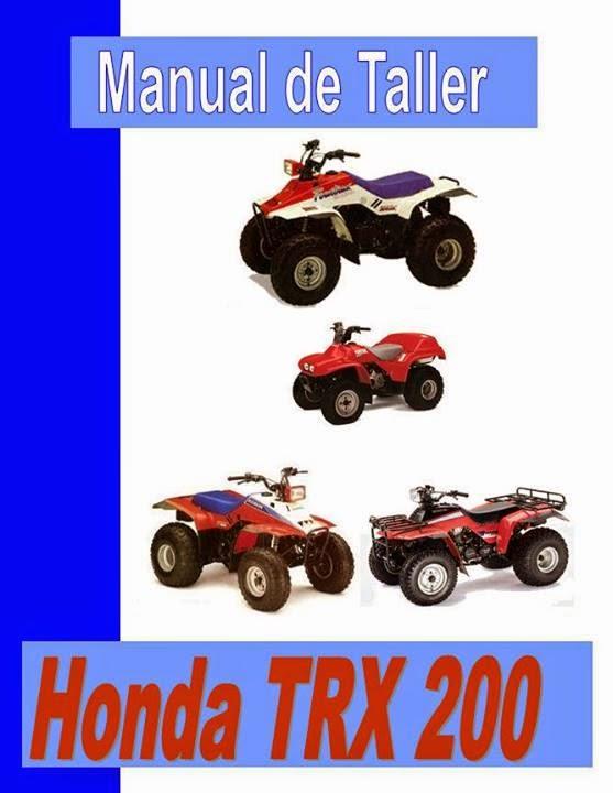 Cuatriciclo honda TRX 200 manual taller