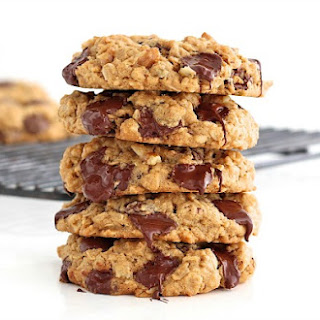Flourless Oatmeal Chocolate Chip Cookies.