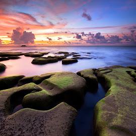 Kudat sunset by Christianto Mogolid - Landscapes Sunsets & Sunrises ( sky, sunset, asia, malaysia, landscape, kudat, sabah )