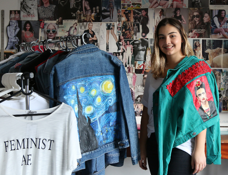 Jessica Sanders,18, started her own business known as the Cheeky Chic boutique. The pop up shop which offers feminist printed t-shirts and custom hand painted denim jackets for women