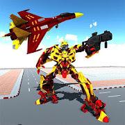 Real Air Robot Fighter jet Transformation Battle