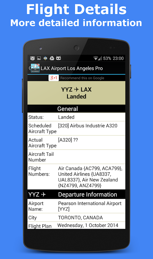 Gatwick Flight Information - screenshot