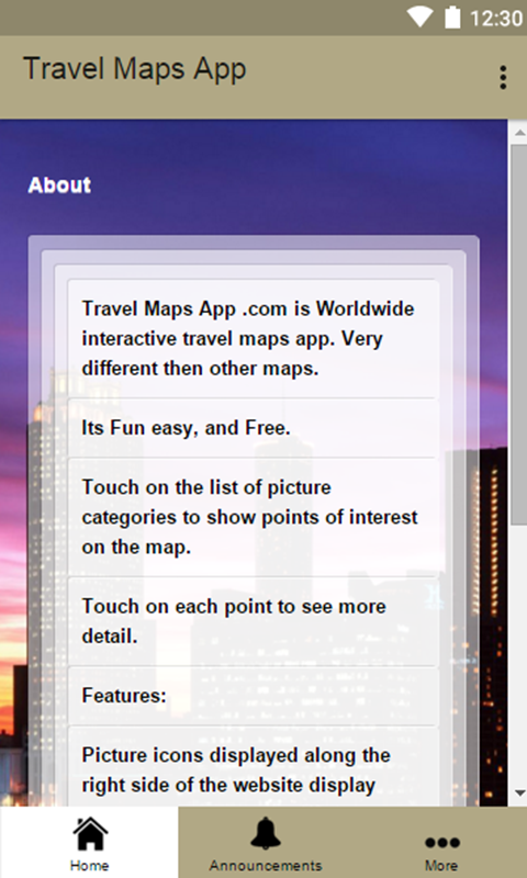 Travel Maps App- screenshot