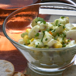 Halibut Ceviche with Corn and Lime
