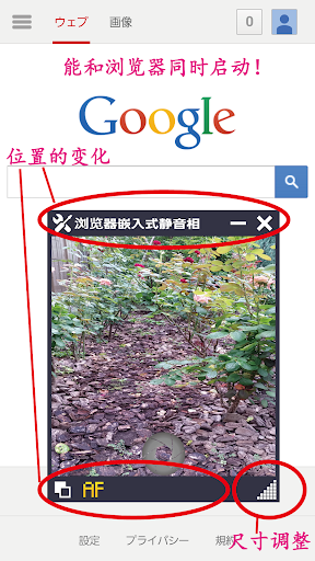 浏览器嵌入式静音相机