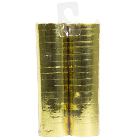 Serpentiner, guld metallic 2 st