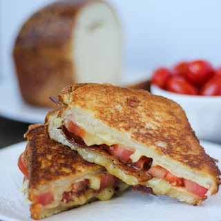 Grilled Cheese with Tomato and Bacon.