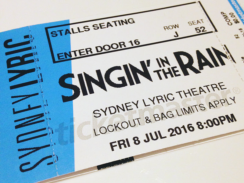 Singin in the Rain Ticket