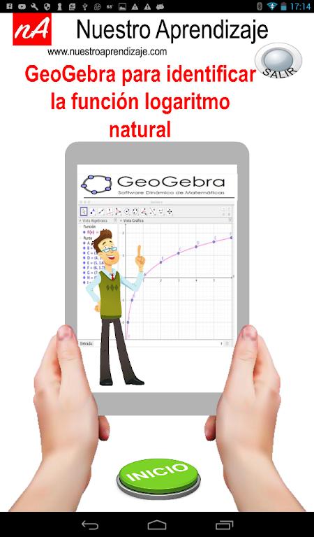 Download GeoGe para graficar función logaritmo natural ... on