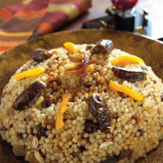 Moroccan Sweet Couscous with Mixed Dried Fruits Recipe