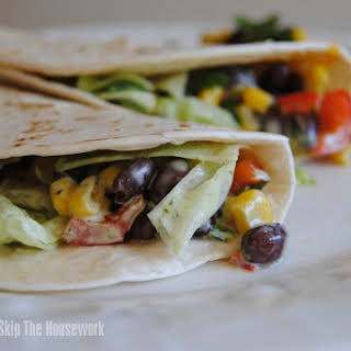 Black Bean Salsa Tacos.