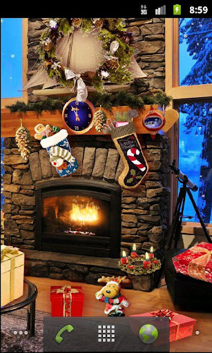 Christmas Fireplace LWP Full screenshot 3