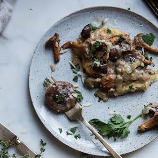 Pan Fried Polenta + Wild Mushroom Ragu.