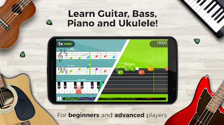 Yousician -  Learn Guitar, Piano, Bass & Ukulele APK screenshot thumbnail 2