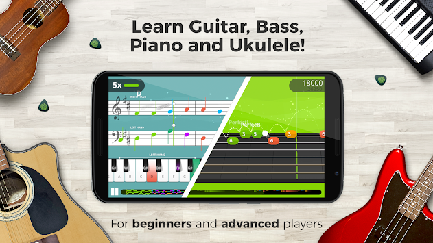 yousician learn guitar piano bass ukulele apk. Black Bedroom Furniture Sets. Home Design Ideas