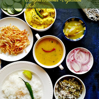 The Everyday Bengali Vegetarian Thali / Meals - Summer Special.