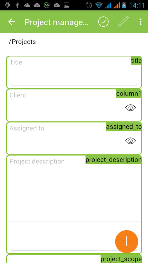 MobiDB Project Management- screenshot