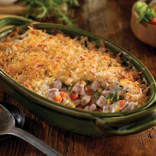 Pork and Hash Brown Shepherd's Pie.