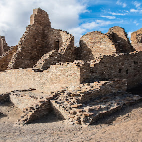 Chaco Canyon's Pueblo Bonito by Sean Markus - Buildings & Architecture Decaying & Abandoned ( chaco canyon historic park, national park, ancient architecture, pueblo ruins, ruins, national park photography, chaco canyon, native american ruins )