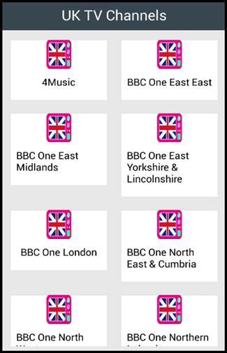 UK TV Channels 1.0 screenshots 1