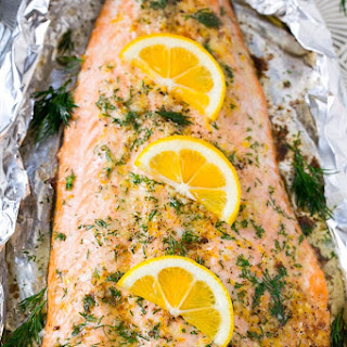 Salmon in Foil with Lemon and Dill Recipe