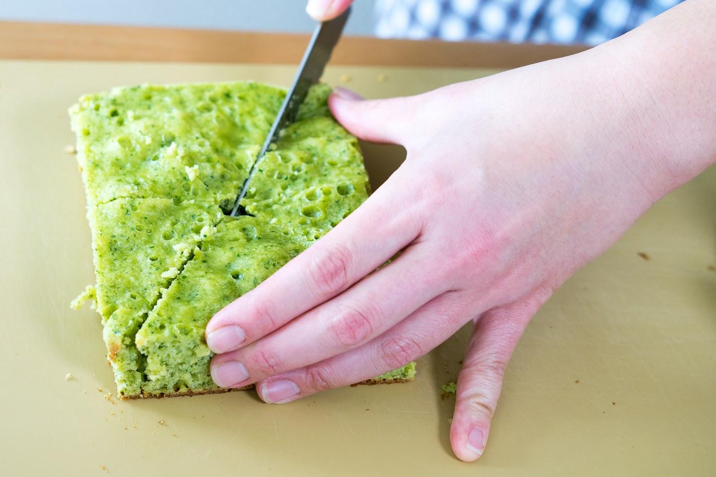 黒千石レシピ:小松菜のツリーケーキ