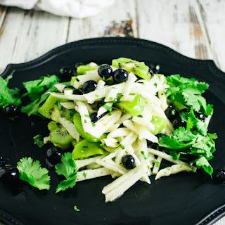 Tangy Jicama Blueberry Kiwi Fruit Salad