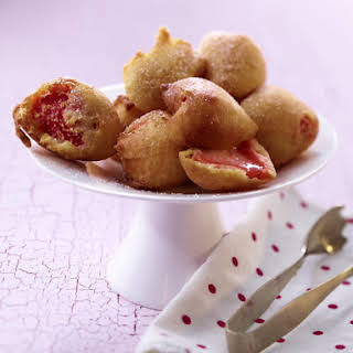 Deep-Fried Strawberries with Spun Sugar.