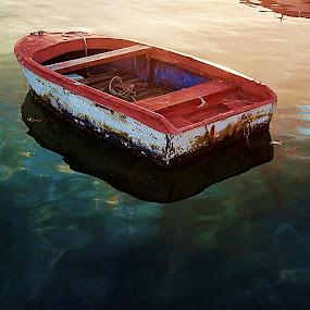 Waiting by Bozidarka Scerbe Haupt - Transportation Boats