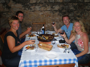 Photo: Fantastic Peka (slow coal cooked lamb) and local vino dinner, Roki's winery, interior of Vis Island
