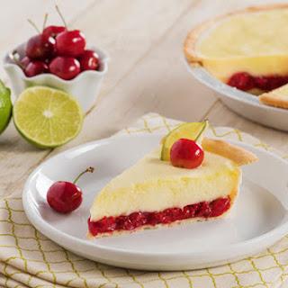Cherry Limeade Margarita Pie