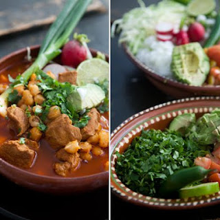 Posole Rojo (Mexican Pork and Hominy Stew).