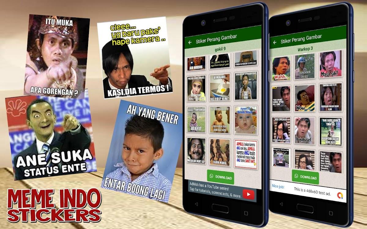 Stiker Perang Gambar Meme Indonesia WaStickerApps – Android