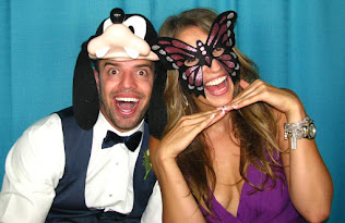 image of masks in a photo booth