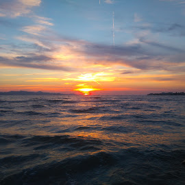 sunset by Zdenko Katanica - Instagram & Mobile Android ( reflection, adriatic, sukošan, sunset, zalazak, sunce, dalmatia, sun,  )