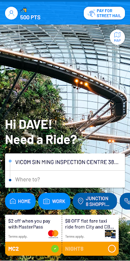 ComfortDelGro Booking App screenshot