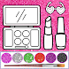 Glitter beauty coloring and drawing for Kids
