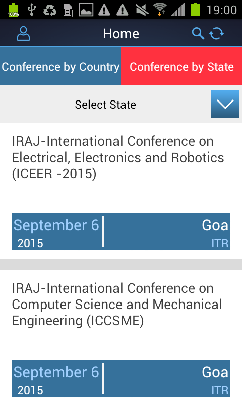 Conference Alerts- screenshot