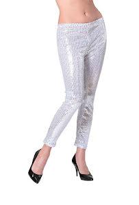 Leggings, silverglitter