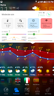 WETTER PRO - Tage Prognose, Regenradar & Widgets Screenshot