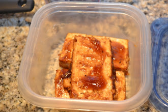 Photo: Because my husband was going away for the evening, I packed him up a supply of tofu and fries. None remained when he got home.
