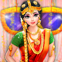 South Indian Bride Wedding Salon-Dress Up & Makeup icon