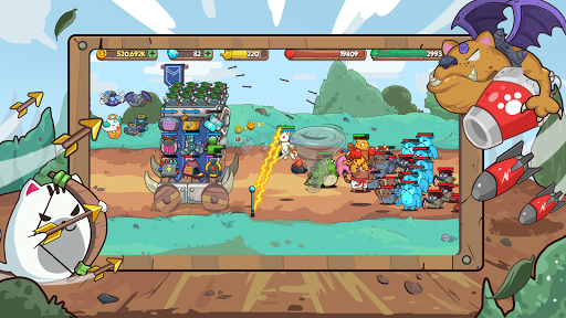 Cat'n'Robot: Idle Defense - Cute Castle TD PVP screenshots 3