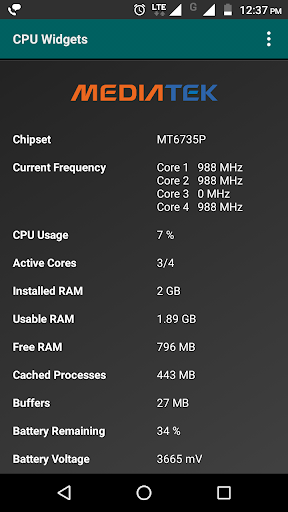 Widgets - CPU | RAM | Battery  screenshots 5