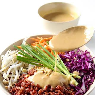 Thai Style Buddha Bowl with Peanut Sauce.