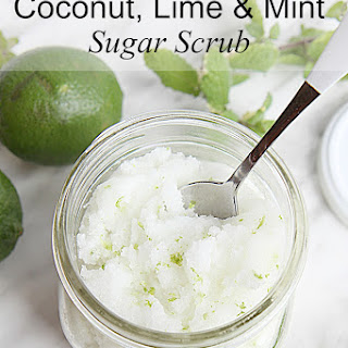 DIY Lime Mint Sugar Scrub