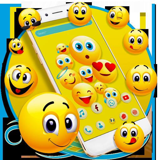 Happy Emoji launcher Theme Icon
