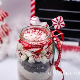Homemade Peppermint Mocha In A Jar.