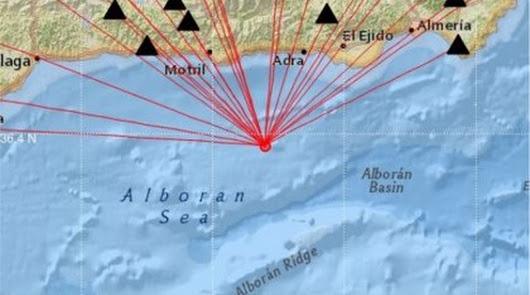 Detectados seis terremotos en el Mar de Alborán, el mayor de 4,9 grados